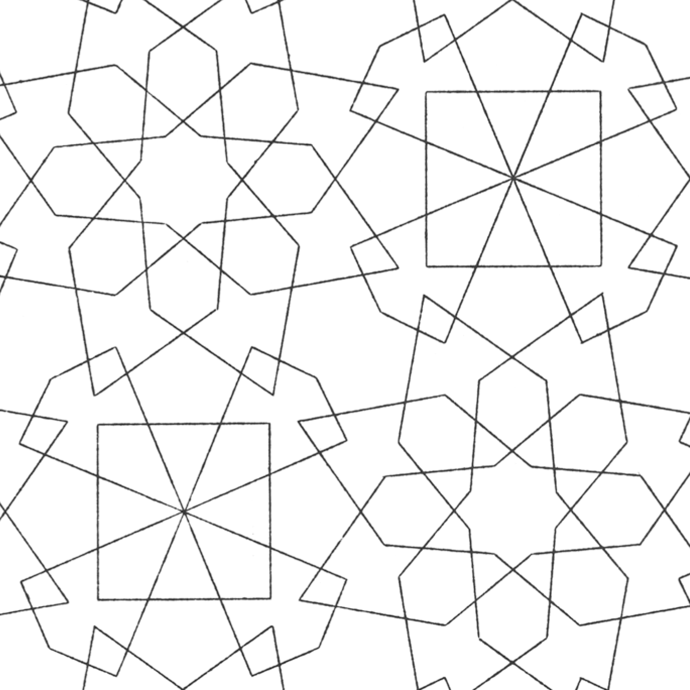 coloring pages islamic patterns drawing - photo#15