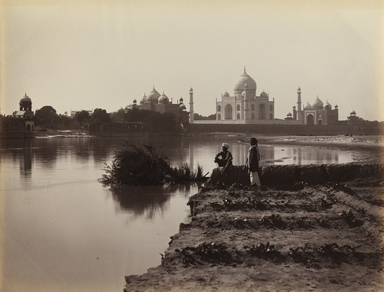 Wide the david collection unknown photographer  the taj mahal  agra  from the north  1870s