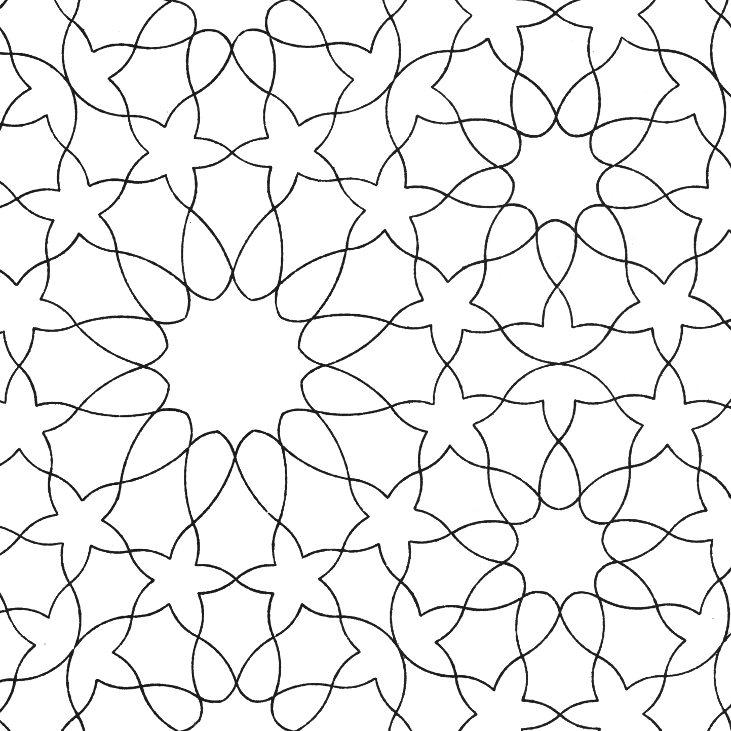 Line Pattern Colouring Pages