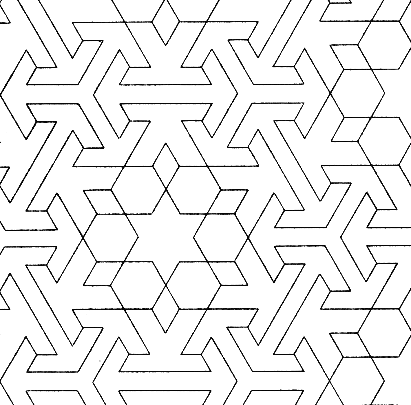 Pattern Colouring Pics : Islamic patterns colouring pages