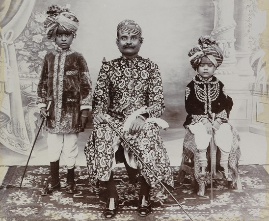 R.K. Brothers. Ruling Group, probably from Bikaner, India, c. 1900