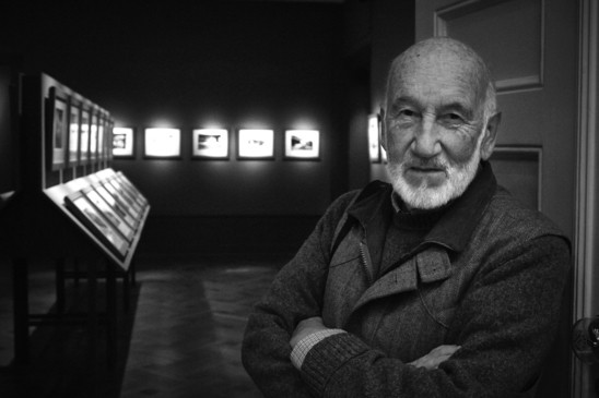 Gianni Berengo Gardin at the opening of the exhibition on September 24, 2015. Photo: Linus Klemp